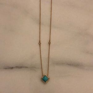 Brand new gold and turquoise necklace